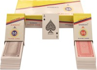 SHARDA NO 55 CLUB QUALITY PLAYING CARDS PACK OF 12 (RED/GREY)