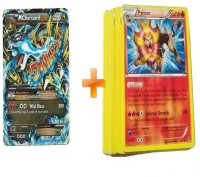 Pokemon Combo Of Mega Charizard And 20 Phantom Forces Card (Multicolor)