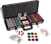 Casinoite Treasure Sicurezza Luxury 500 Poker Chip Set Toy (Multi-color)