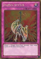 Yu-Gi-Oh! Icarus Attack (Pglden080) Premium Gold 1St Edition Gold Rare (Pink)