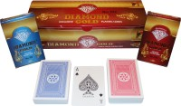SHARDA DIAMOND GOLD EXCLUSIVE PLAYING CARDS- PACK OF 12 (RED/BLUE)