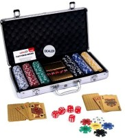 Casinoite Gold 300 Pcs Poker Chip Set Toy MP (Multi-color)