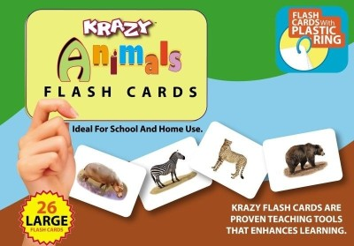 MindWealth Learning & Educational Toys MindWealth Krazy Common Animals Flash Cards With Ring