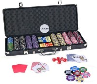 Casinoite 500 Kentuky Fort Knox USA Proffesional Clay Poker Chip Set Toy (Multi-color)