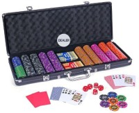 Casinoite 500 Wolf Pack Clay Poker Chip Set Toy (Multi-color)
