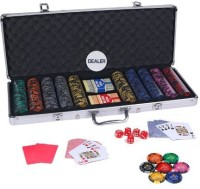 Casinoite Monte Carlo Dark Millions Clay Pro Poker Chip Set 500 Toy (Multi-color)