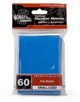 Monster Protectors Sleeves Monster Protector Sleeves Smaller Size Flat Matte (Blue)