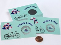 My Scratch Offs, LLC Bridal Shower Scratch Off Vintage Mint Green Bicycle (Green)
