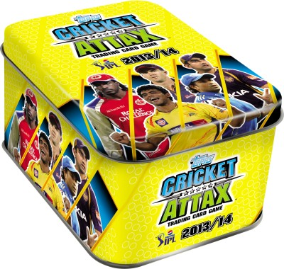 Buy Topps IPL 2013/2014 Cricket Attax Tin Box: Card Game