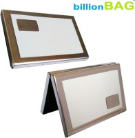 BillionBAG | High Quality | White Leather Steel | Pack Of 2 | 6 Card Holder (Set Of 2, White, Silver)