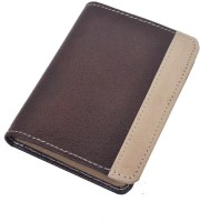 Modish Spring Summer Brown Leather, 15 Card Holder (Set Of 1, Brown)