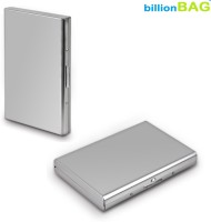 BillionBAG | Pack Of 2 | High Quality Steel Plain Executive ATM 6 Card Holder (Set Of 2, Silver)