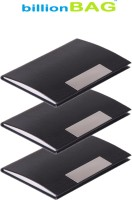 BillionBAG | Pack Of 3 | High Quality Stylish Black Leather Visiting 10 Card Holder (Set Of 3, Black)