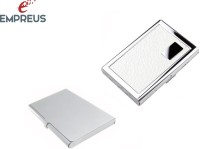 Empreus ATM & Visiting Card Holders 6 Card Holder (Set Of 2, Silver, White)