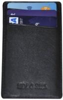 Hide & Sleek Mini Leather, 4 Card Holder (Set Of 1, Black)