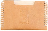 Dhama By Dharavimarket Men's Visiting Card Holder 20 Card Holder (Set Of 1, Beige)