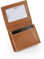 Hide & Sleek Mini Thin Slim Real, 4 Card Holder (Set Of 1, Brown)