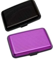 Kids Mandi Card Wallet Collection 6 Card Holder Set Of 2, Purple, Black