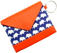 Thathing Blue Elephant 8 Card Holder Set Of 1, Blue, Orange, Multicolor