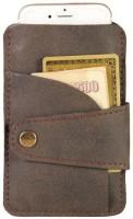 Dhama By Dharavimarket Visiting Card Holder 20 Card Holder (Set Of 1, Brown)