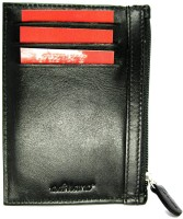 Adriano Genuine Top Grain Leather Multi Compartment With Key Pouch, 6 Card Holder - Set Of 1, Black