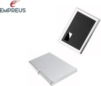 Empreus ATM & Visiting Card Holder 6 Card Holder (Set Of 2, Silver, Black)