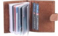 Hide & Sleek Credit Leather, 20 Card Holder (Set Of 1, Brown)
