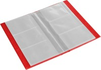 Ecoleatherette 3 Visiting Card Book 3vcb.Red, 120 Card Holder (Set Of 1, Red)