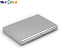 Stealodeal Waterproof Business ID Atm Wallet 6 Card Holder (Set Of 1, Silver)
