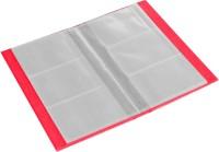 Ecoleatherette 3 Visiting Card Book 3vcb.D.Pink, 120 Card Holder (Set Of 1, Pink)