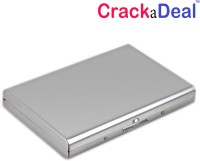 CrackaDeal High Quality Stylish Plain Steel ATM(Pack Of 2) 6 Card Holder (Set Of 2, Silver)