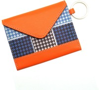 Thathing Blue Checkered 8 Card Holder Set Of 1, Blue, White, Multicolor