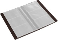 Ecoleatherette 3 Visiting Card Book 3vcb.Chocolate, 120 Card Holder (Set Of 1, Brown)