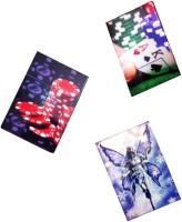 AOC Gambling Visiting Card Holders/ Playing Set 200, 120 Card Holder (Set Of 3, Multicolor)
