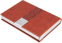 7Trees Magnetic Closure 20 Card Holder (Set Of 1, Brown)