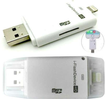 S2S i-Flash Drive Micro SD Card Reader for iPhone 6 6 Plus 5 5S 5C, iPad,  iPod Touch Card Reader (White)