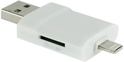 ROBMOB i-Flash Drive HD USB Two Way Storage Device Card Reader (White)