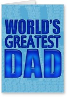 Lolprint World's Greatest DAD Fathers Day Greeting Card (Multicolor, Pack Of 1) - CRDE7K6NWGM8UAWA
