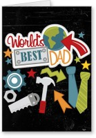 Lolprint World'S Best Dad Fathers Day Greeting Card (Multicolor, Pack Of 1) - CRDE7GBFG6HW6EHS