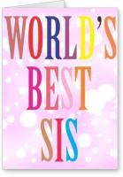 Lolprint World's Best SIS Rakhi Greeting Card (Multicolor, Pack Of 1)