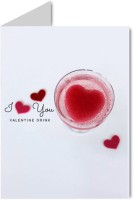 Gifts By Meeta Valentine I Love You Greeting Card (Multicolor, Pack Of 1)