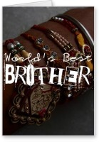 Lolprint World's Best Brother Rakhi Greeting Card (Multicolor, Pack Of 1)