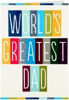 Giftsbymeeta Worlds Greatest Dad Greeting Card (White, Pack Of 1)