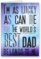 Lolprint Worlds Best DAD Fathers Day Greeting Card (Multicolor, Pack Of 1)