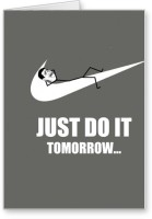 Lolprint Just Do It Funny Fathers Day Greeting Card (Multicolor, Pack Of 1)