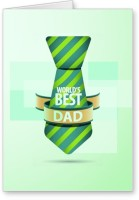 Lolprint World's Best DAD Fathers Day Greeting Card (Multicolor, Pack Of 1)