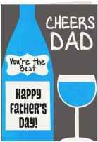 Giftsbymeeta Coolest Dad In The World Fathers Day Greeting Card (Multicolor, Pack Of 1)
