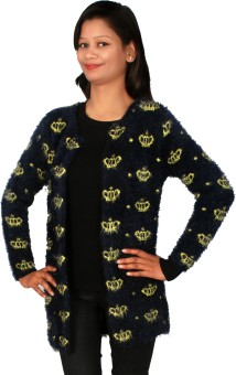 Sheezworld Women's Button Printed Cardigan - CGNE4FYV8RHHN2KW