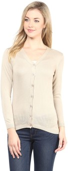 Annabelle By Pantaloons Women's Button Solid Cardigan - CGNEA39V3YBXT463