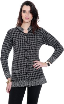 TAB91 Women's Button Self Design Cardigan - CGNEBDUZDZCG8QZH